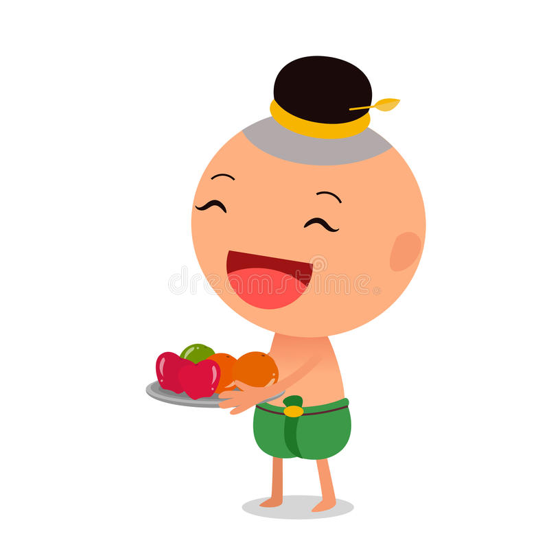Cartoon characters Thai child royalty free stock photography