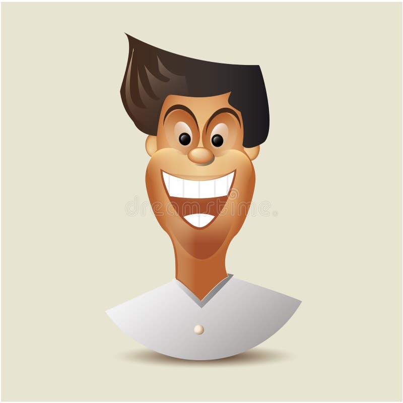 Cartoon charactor - happy man. Vector vector illustration
