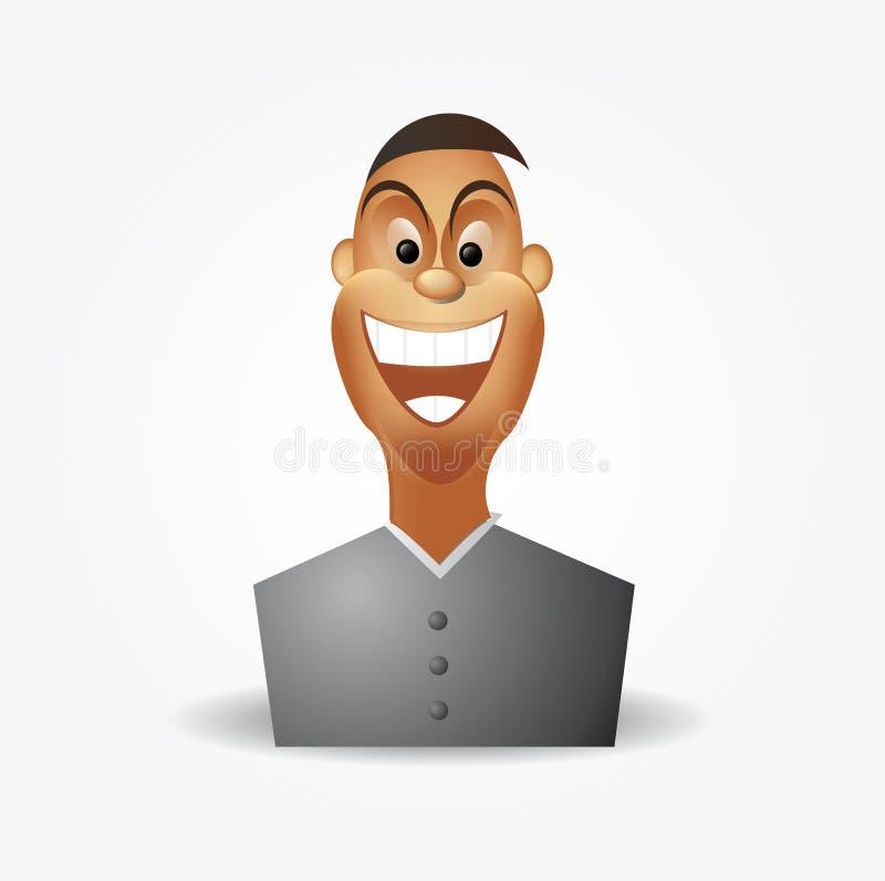 Cartoon charactor - happy man. Vector royalty free illustration