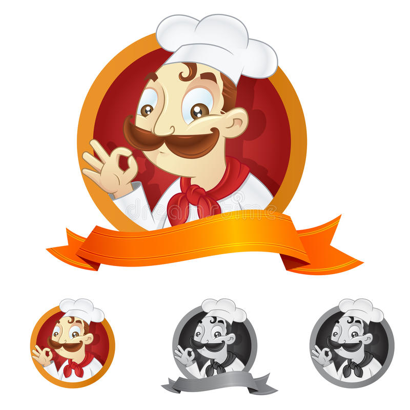Download Cartoon chef stock illustration. Image of design, person - 21089336