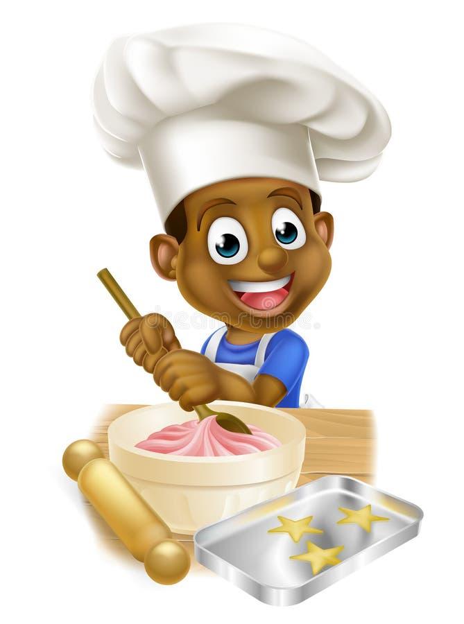 Cartoon Chef Boy vector illustration