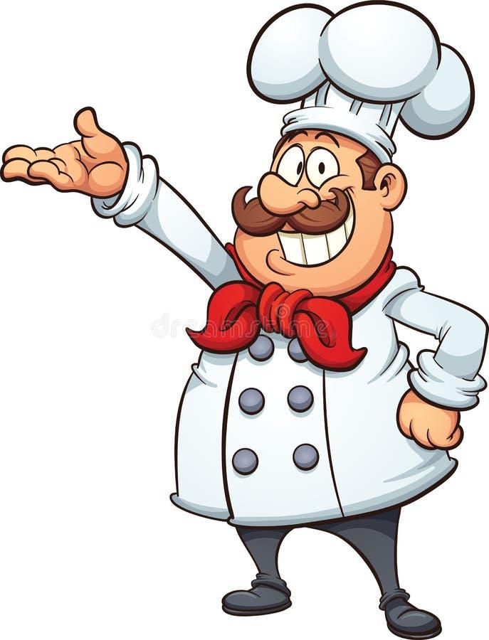 Cartoon chef stock illustration