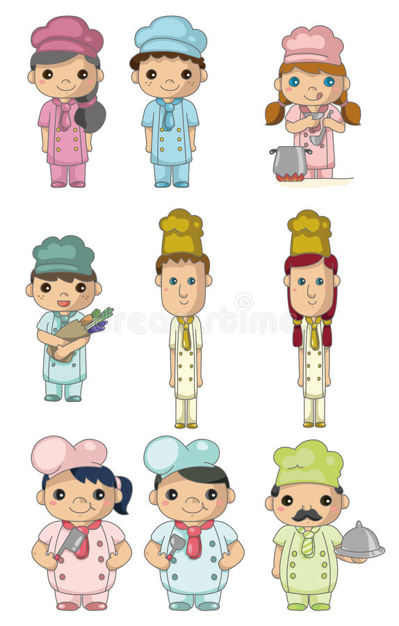 Download Cartoon chef icon stock vector. Image of cafe, cute, happiness - 18699484