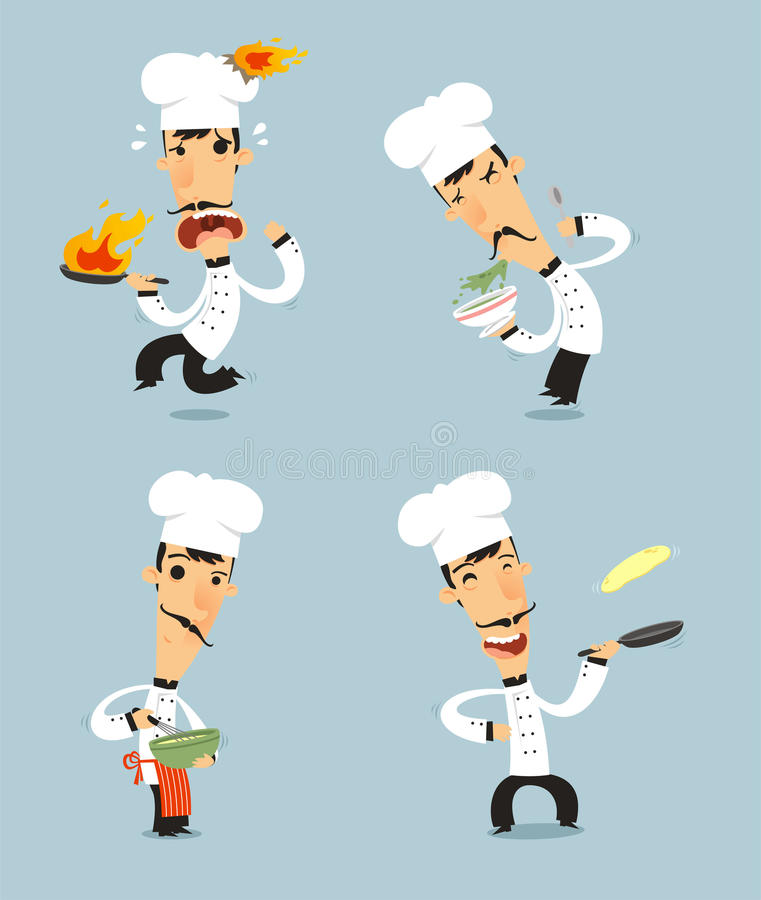 Free Cartoon Chef Set 2 Royalty Free Stock Images - 86749299