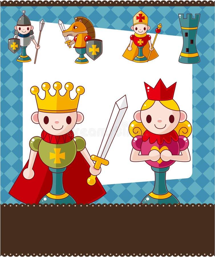 Cartoon chess card vector illustration