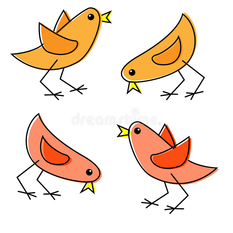 Download Cartoon Chicks stock vector. Illustration of whimsical - 7048120
