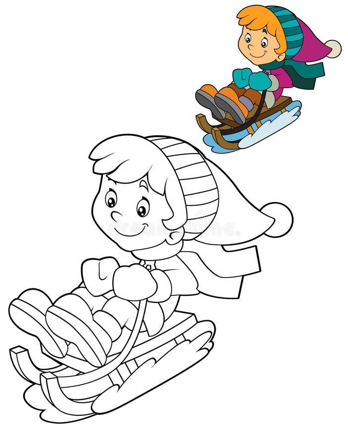Cartoon child - activity - illustration for the children vector illustration