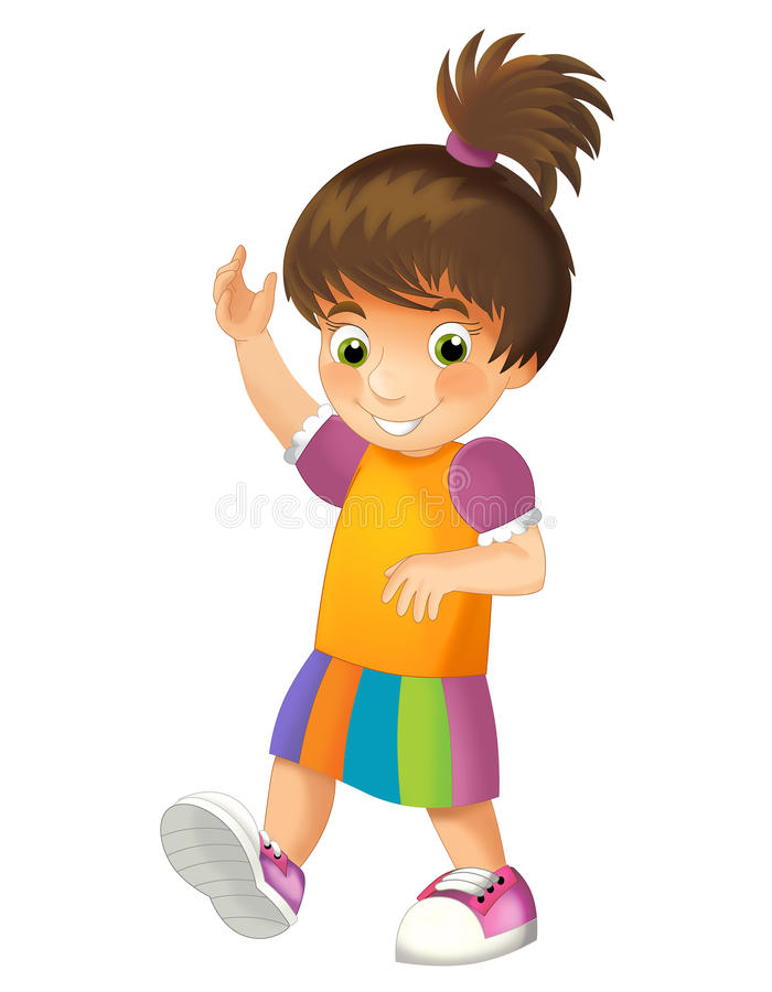 Cartoon child isolated - illustration for children. Beautiful cartoon child illustration for children stock illustration