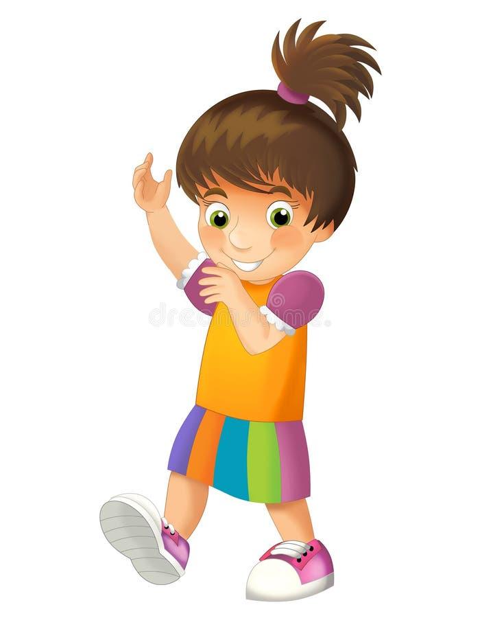 Cartoon child isolated - illustration for children. Beautiful cartoon child illustration for children royalty free illustration