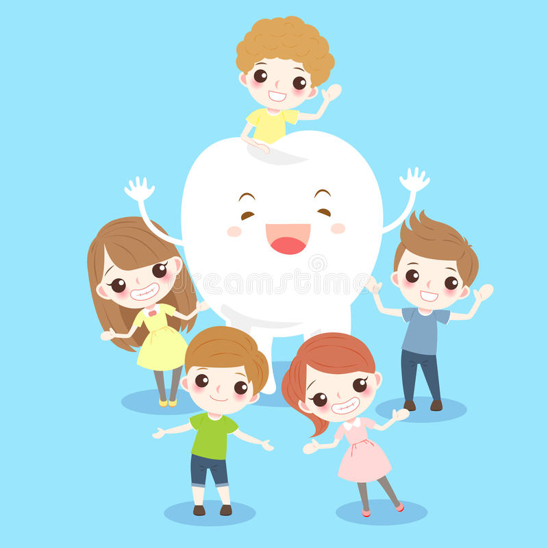 Cartoon child with tooth royalty free illustration