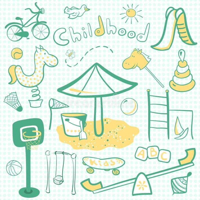 Download Cartoon Children Playground Icon Stock Image - Image: 36109221
