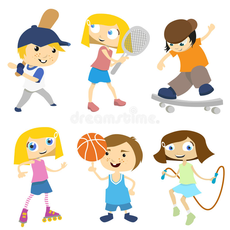 Download Cartoon children playing stock vector. Image of face - 18152879