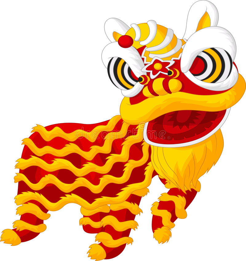 Free Cartoon Chinese Lion Dancing Royalty Free Stock Photos - 49490998