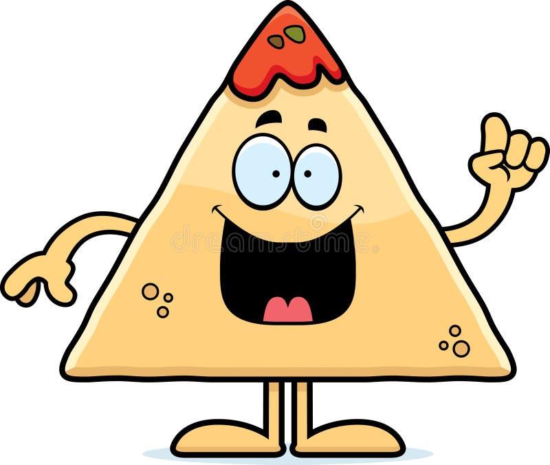 Cartoon Chips and Salsa Idea royalty free illustration