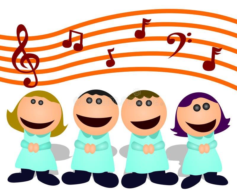 Cartoon choir vector illustration