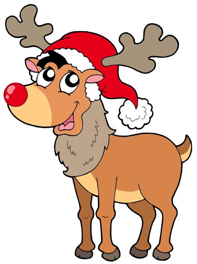 Cartoon Christmas reindeer