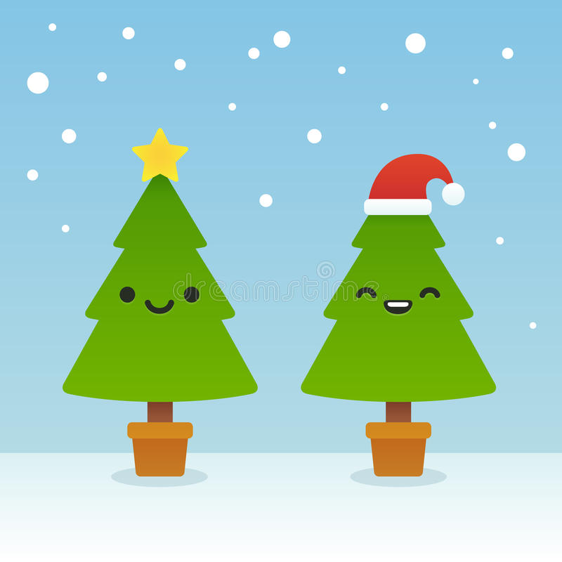 Download Cartoon Christmas Trees Stock Vector Illustration Of Eyes