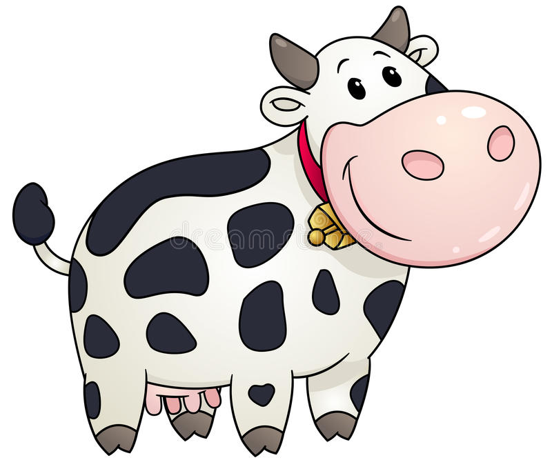 cartoon chubby cow vector illustration stock vector illustration rh dreamstime com cow vector silhouette free cow vector png