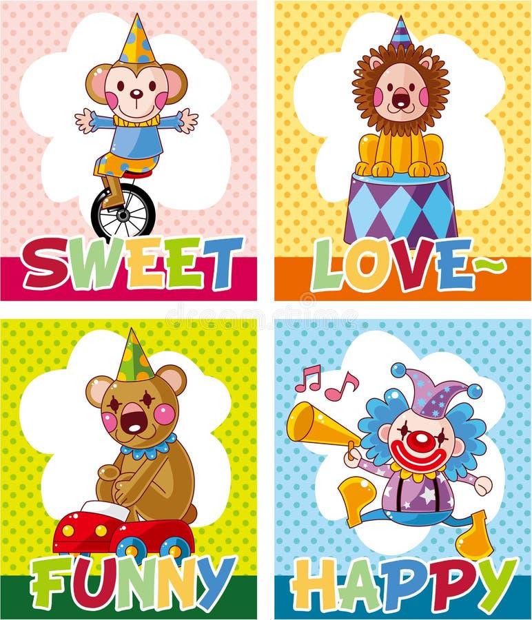 Cartoon circus card stock illustration