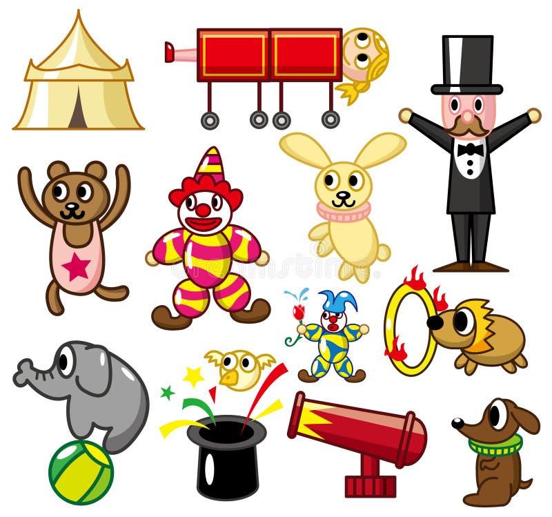 Cartoon circus icon stock illustration