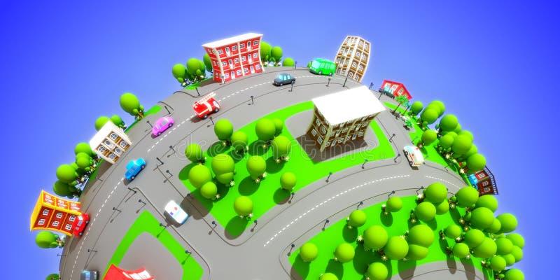 Cartoon city royalty free stock image