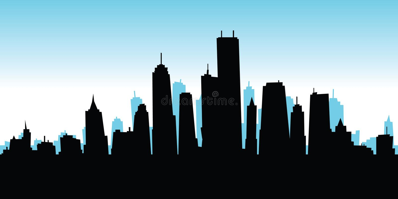 cartoon city stock illustration illustration of skyscraper 41193633 rh dreamstime com how to draw cartoon city skyline cartoon new york city skyline