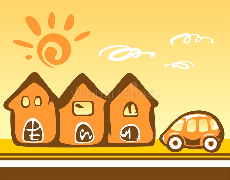 Download Cartoon Cityscape Royalty Free Stock Photography - Image: 5670417