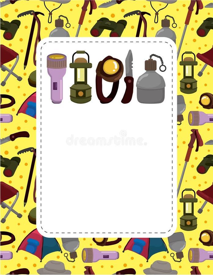 Cartoon Climb Equipment Card Stock Photography