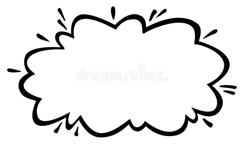 Cartoon Cloud. A simple graphic of a cartoon cloud stock illustration