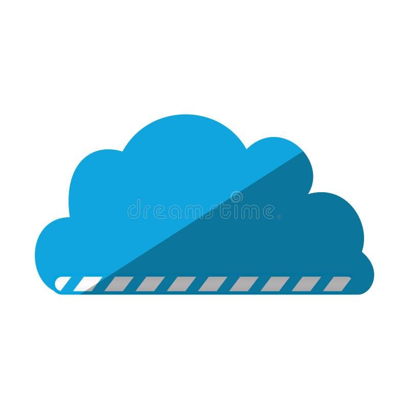 Cartoon cloud load file data. Vector illustration eps 10 vector illustration