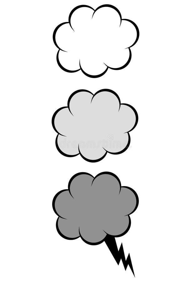 Cartoon cloud vector illustration set vector illustration