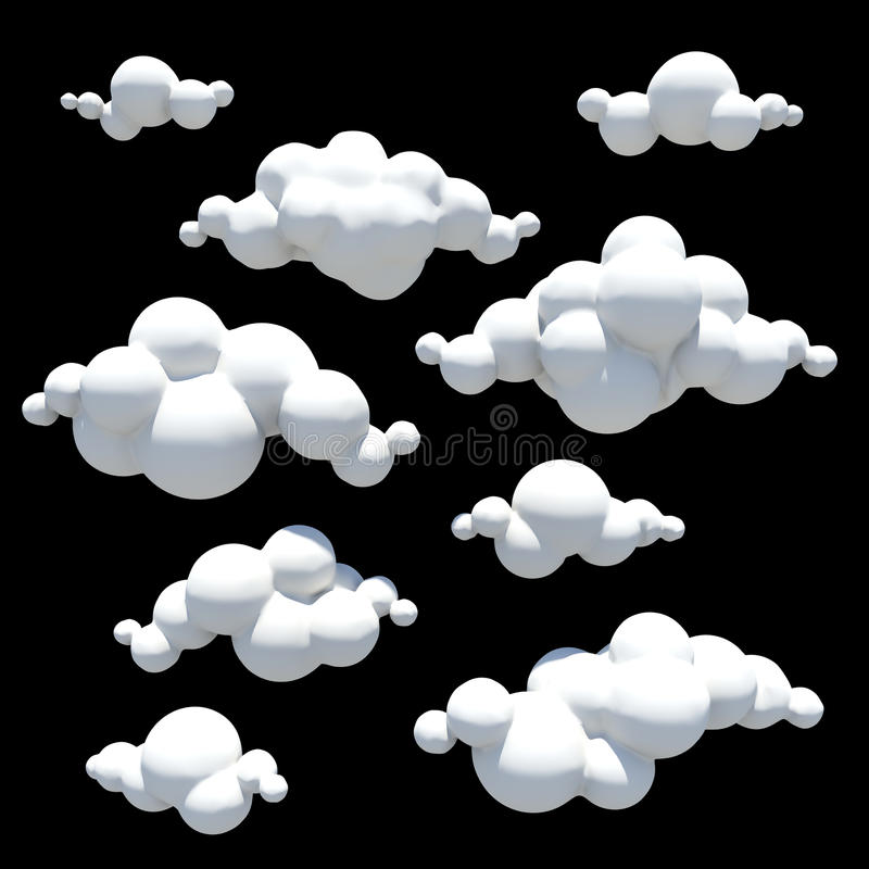 cartoon clouds design element png transparent ba stock