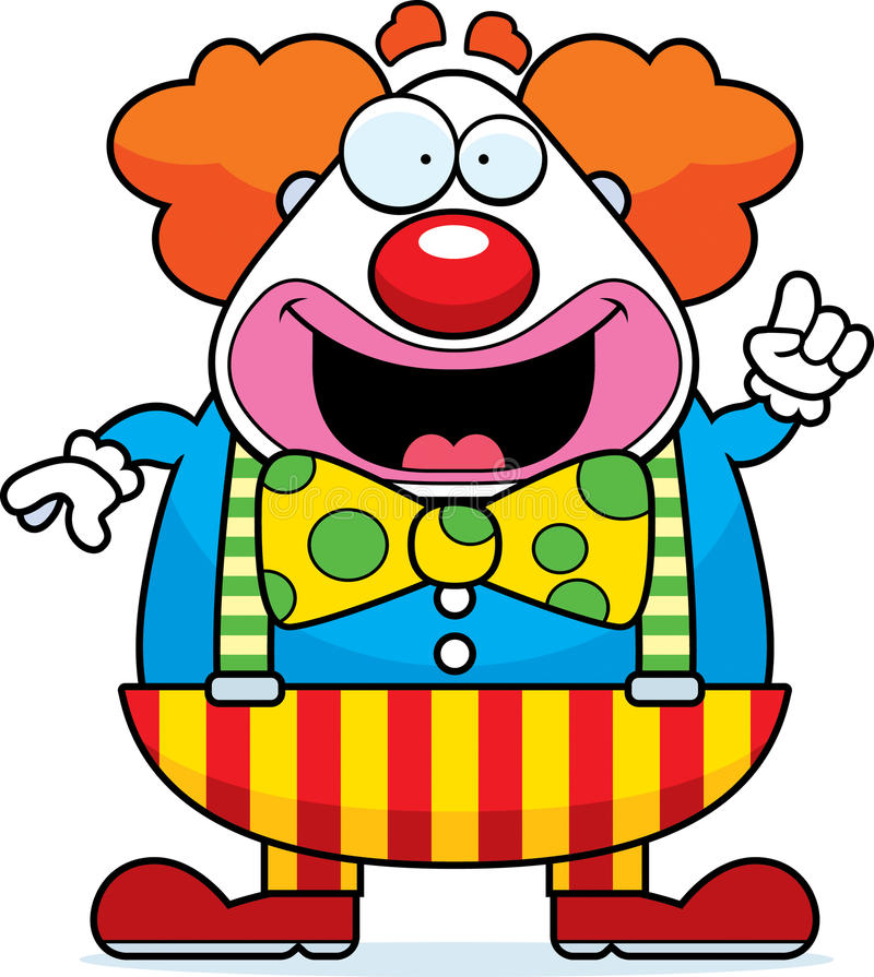 Cartoon Clown Idea stock illustration