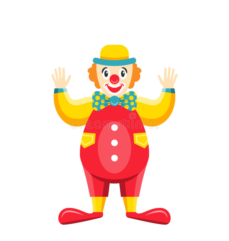 Free Cartoon Clown Isolated On White Background, Party Funny Man Stock Images - 88546184
