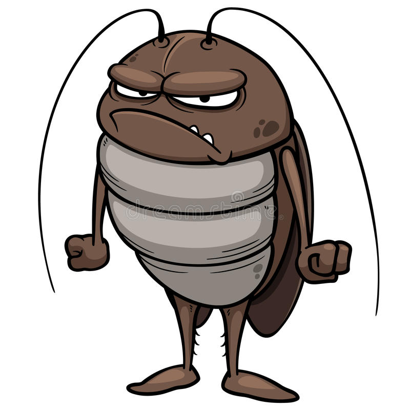 Free Cartoon Cockroach Stock Image - 34914381