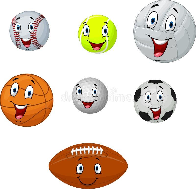 Cartoon collection ball stock illustration