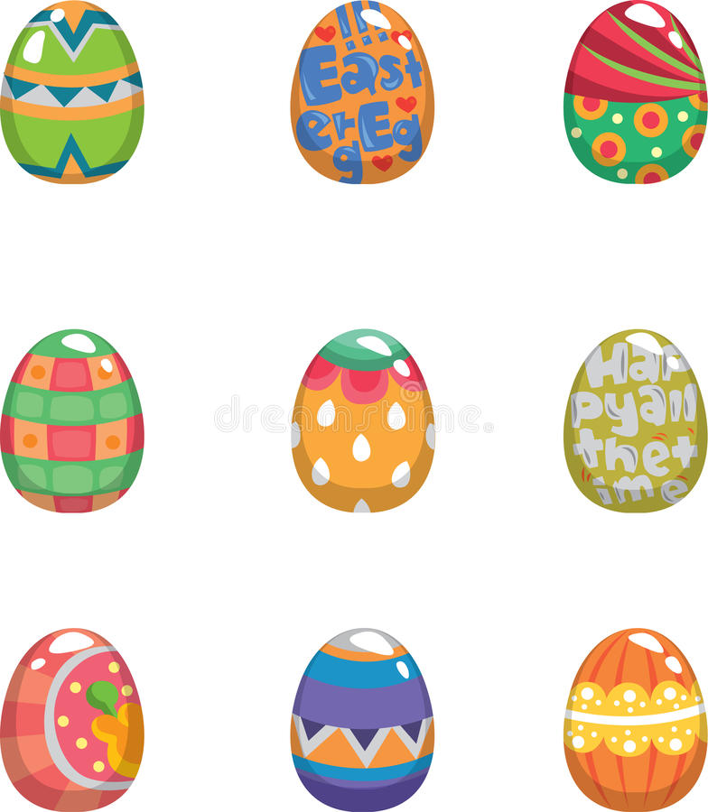 Download Cartoon color egg stock vector. Image of decoration, paint - 23345704