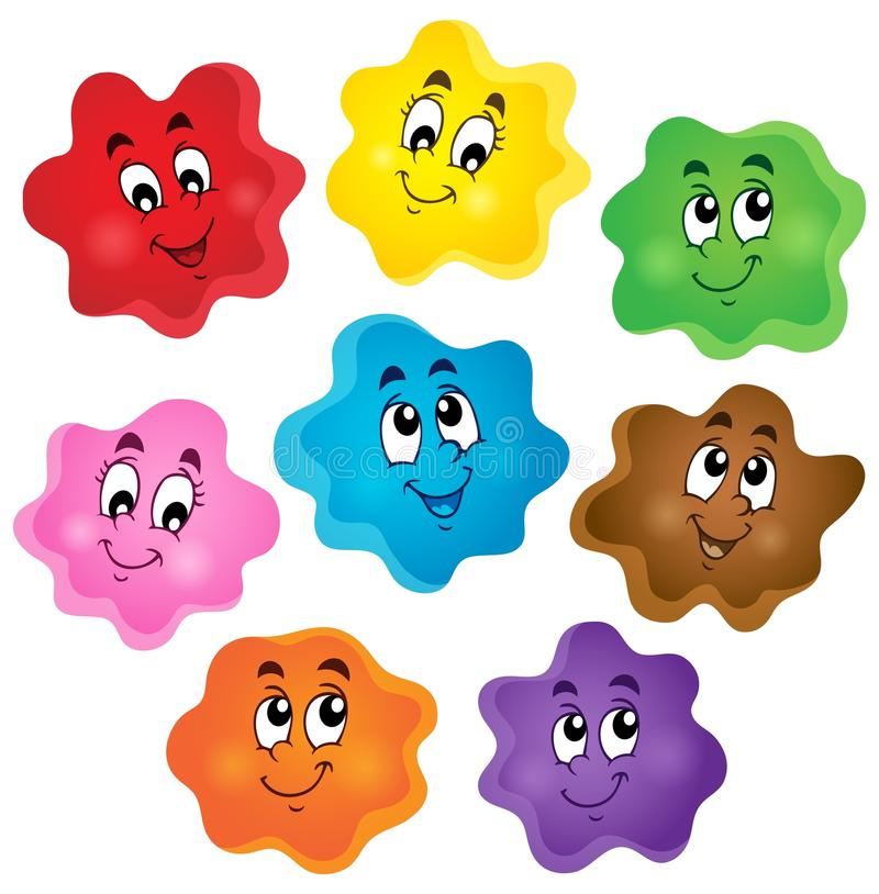 Cartoon Color Shapes Collection Stock Vector - Illustration of ...