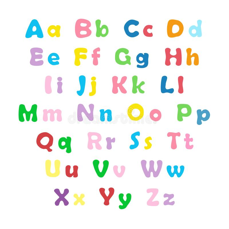 Download English Color Alphabet Stock Vector Illustration Of Modern