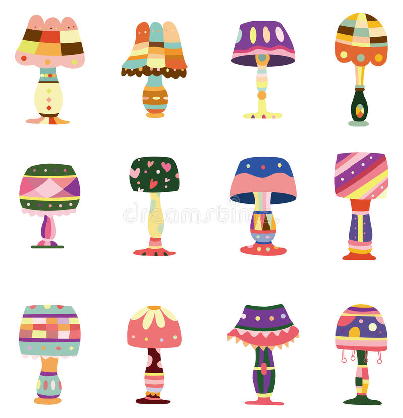 Download Cartoon colorful lamp icon stock vector. Image of light - 17635790