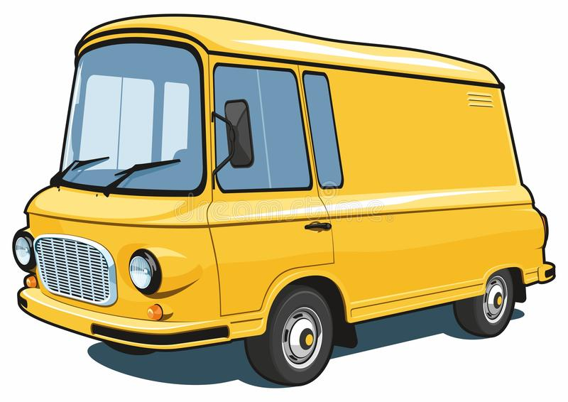 Cartoon commercial van vector illustration