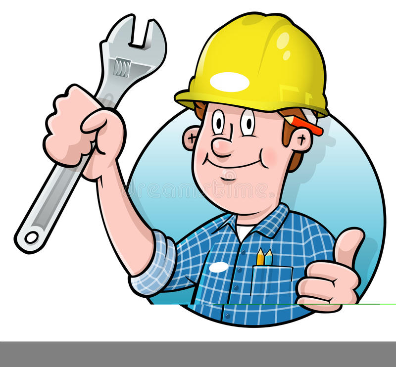 Free Cartoon Construction Worker Logo Royalty Free Stock Photo - 18160325