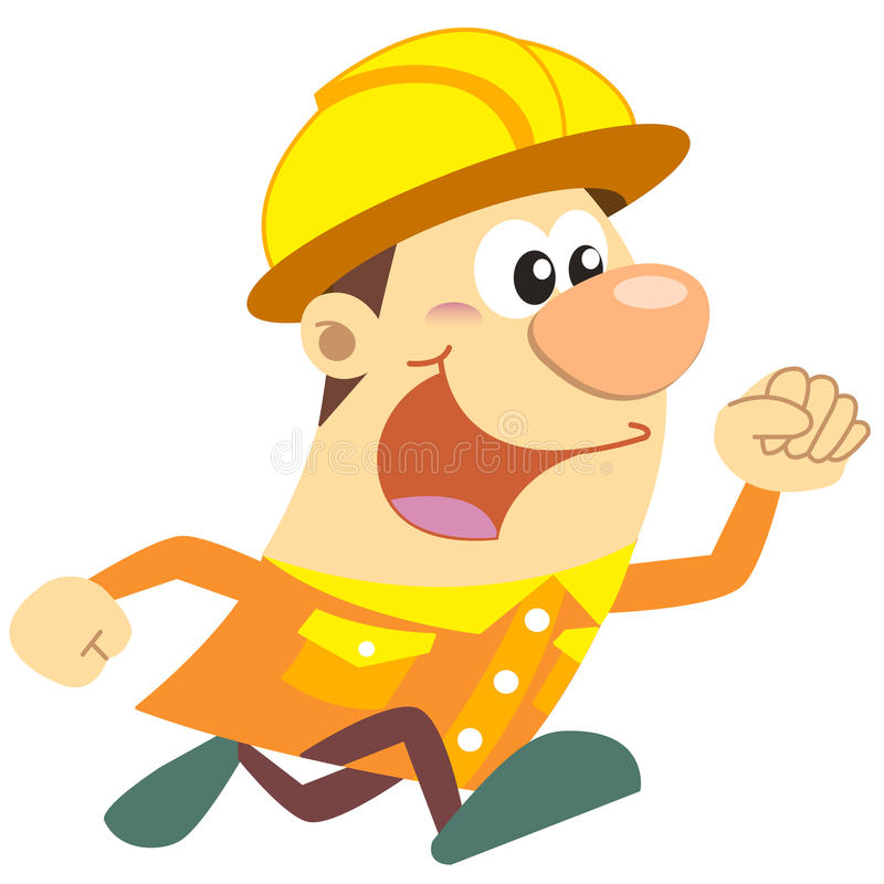 Download Cartoon Construction Worker With White Background Royalty Free Stock Photography - Image: 32137727