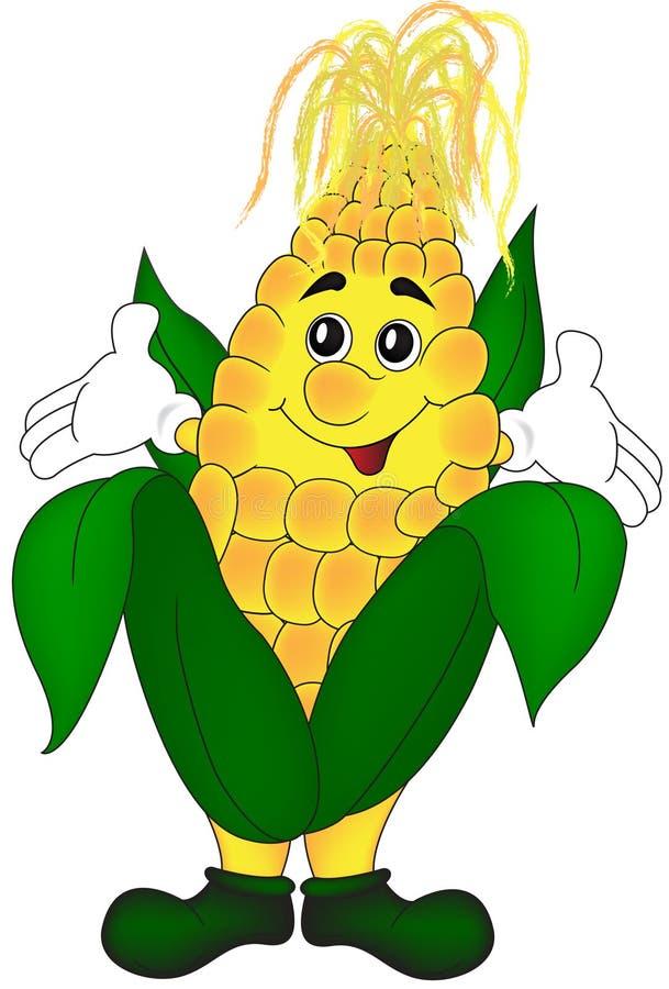 Cartoon corn royalty free illustration
