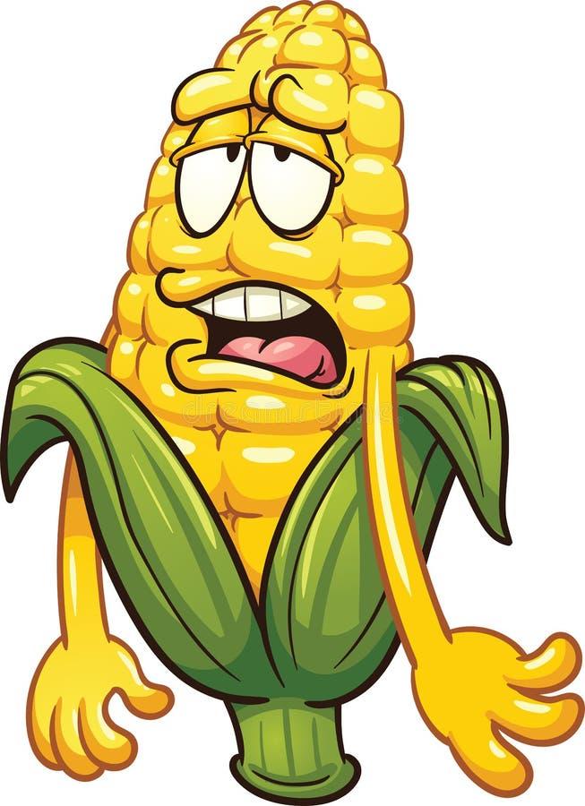 Cartoon_corn stock illustratie