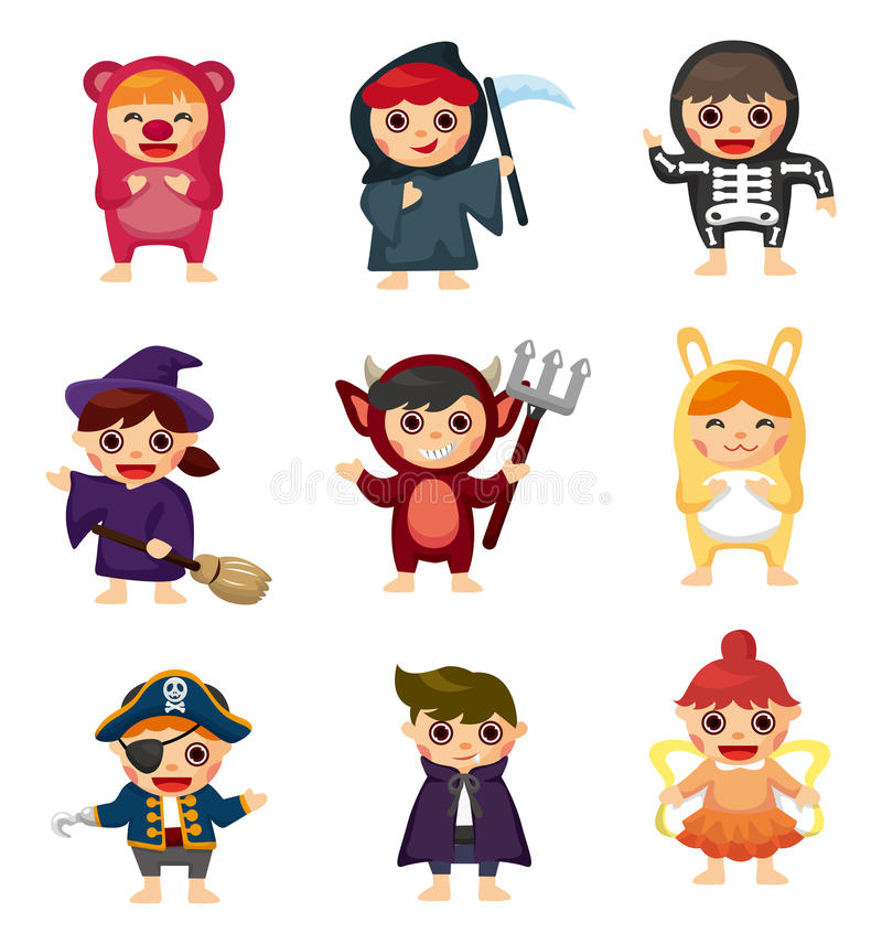 Free Cartoon Costume Party Royalty Free Stock Photography - 22664677