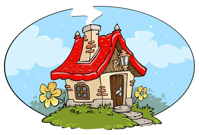 cartoon cottage frame stock illustration illustration of painting rh dreamstime com cartoon cottage pics cartoon cottage