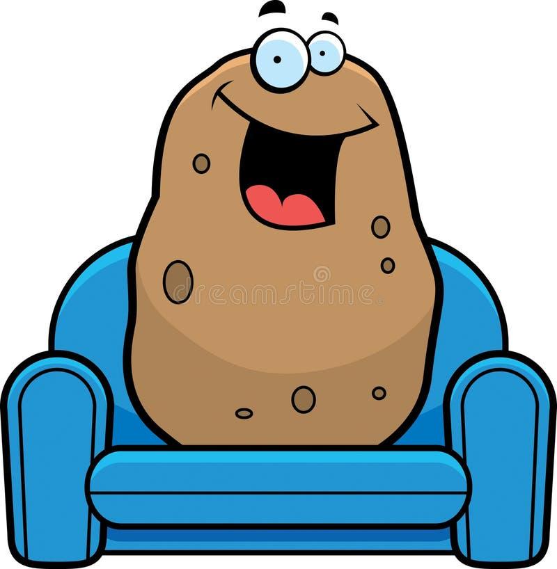 cartoon couch potato stock vector. illustration of spud - 47366807