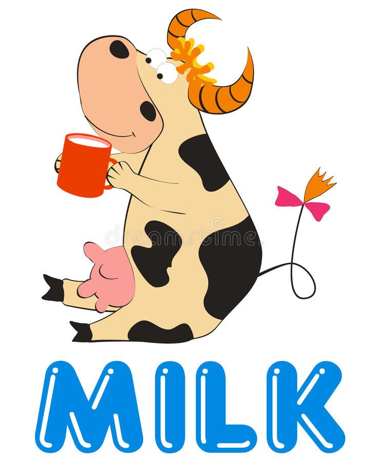 Cartoon cow royalty free illustration