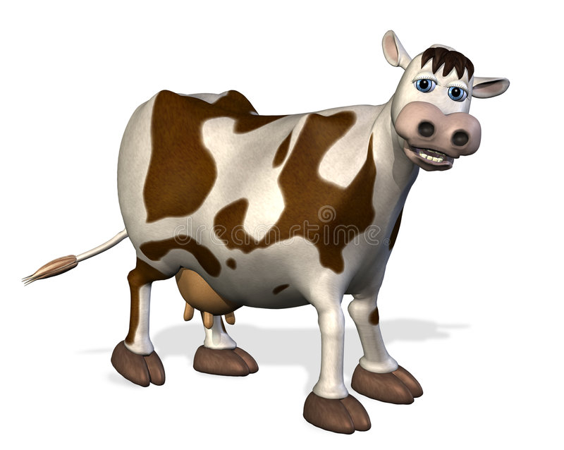 Download Cartoon Cow stock illustration. Image of cute, cattle - 2589011